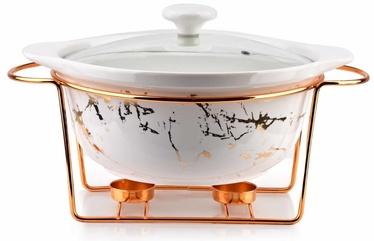 Mondex Elegant Kitchen Round Dish With Heater White 2.4l