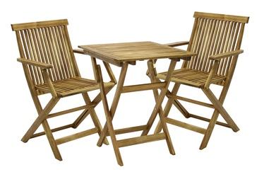 Home4you Finlay Garden Table And 2 Chairs Set Acacia