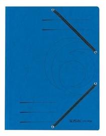 Herlitz 3-Flap File With Elastics A4 Colorspan Blue