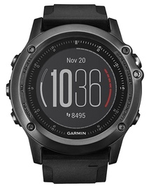 Garmin Fenix 3 Sapphire HR Gray with Black Silicone Band