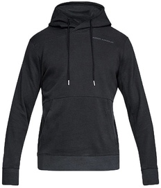 Under Armour Mens Pursuit Microthread Pullover Hoodie 1317416-001 Black M