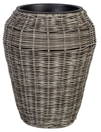Home4you Flowerpot Wicker D28x35cm Grey