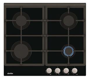 Газовая плита Simfer H6.401.HGSSP Black