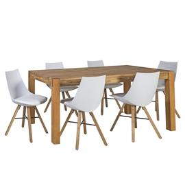 Home4you Chicago/Seiko Dining Room Set Oak/White