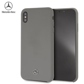 Mercedes Silicone Case For Apple iPhone Xs Max Grey