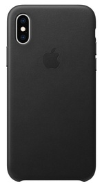 Apple Leather Back Case for Apple iPhone XS Black