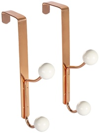 Home4you Metal Door Hangers 2pcs Copper