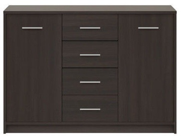 Black Red White Chest of Drawers Nepo KOM2D4S Wenge