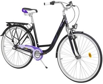 "Jalgratas Romet Angel 21L28677, must/violetne, 19"", 28"""