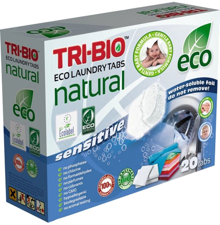 Tri-Bio Laundry Tablets 20pcs