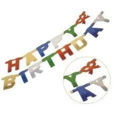 Pap Star Happy Birthday Garland with Letters 1.7m