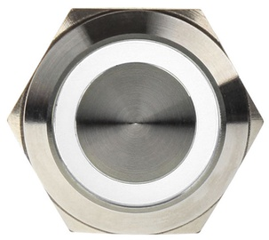 DimasTech Switch Push Button 22mm Silverline White