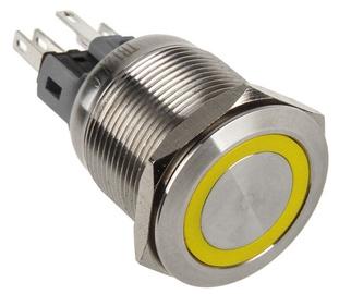 DimasTech Push Button 25mm Silverline Yellow