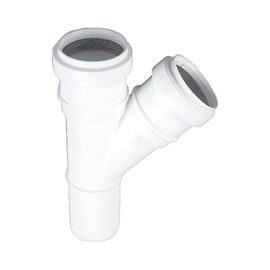 Magnaplast 3-Way Connector Pipe White 45° 40x40mm