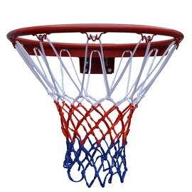 Korvpallirõngas koos võrguga, tugevdatud, 45,72 cm