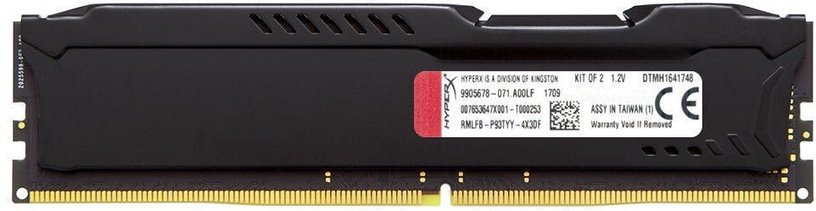 Kingston HyperX Fury Black 16GB 3200MHz CL18 DDR4 HX432C18FB/16