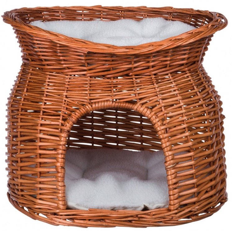 Trixie Wicker Cave with Bed on Top 54x43x37cm