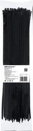 Qoltec Zippers Nylon UV 3.6x370mm 100pcs. Black