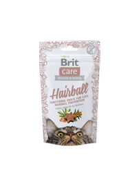 Brit Care Hairball Functional Snack For Cats Hairball Prevention 50g