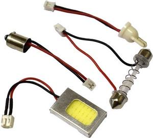 Bosma COB-LED 42x37mm 12V Light Bulb with Adapters