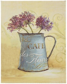 Home4you Picture Grace 20x25cm Blue Bear/Flowers