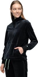 Audimas Cotton Velour Half-Zip Sweatshirt Black S