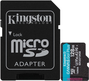 Kingston Canvas Go! Plus 128GB microSDXC UHS-I Class10 w/Adapter