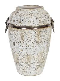 Home4you Leon Ceramic Vase 30cm Antique White