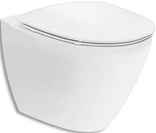 Seinapealne WC-pott Ifö Inspira Art Rimfree, 355x520 mm
