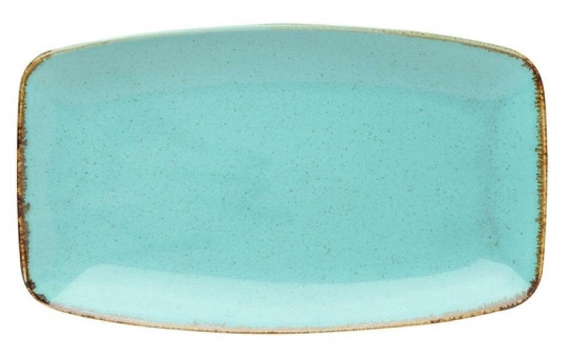 Porland Seasons In-Depth Serving Plate 31x18.4cm Turquoise