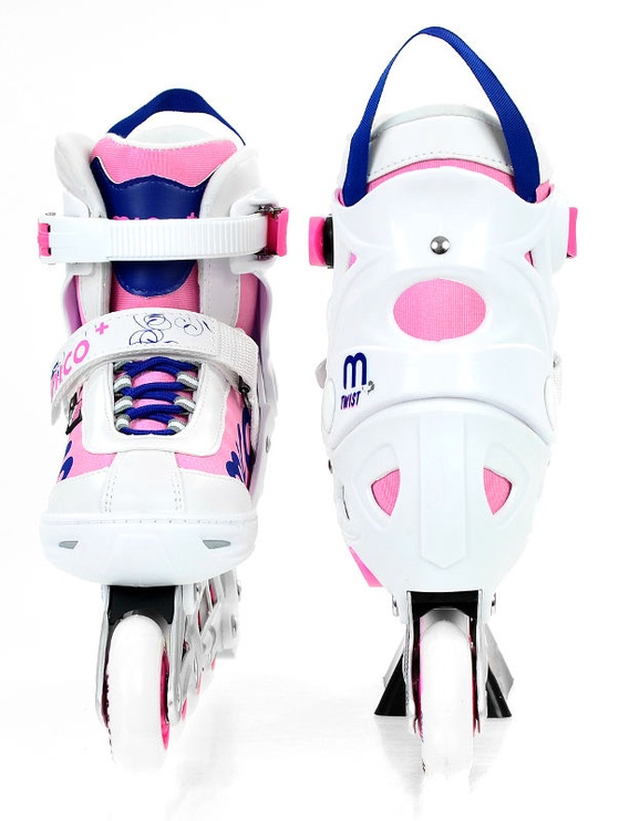 Rulluisud Mico Plus Twist Girl White/Pink, 40-43