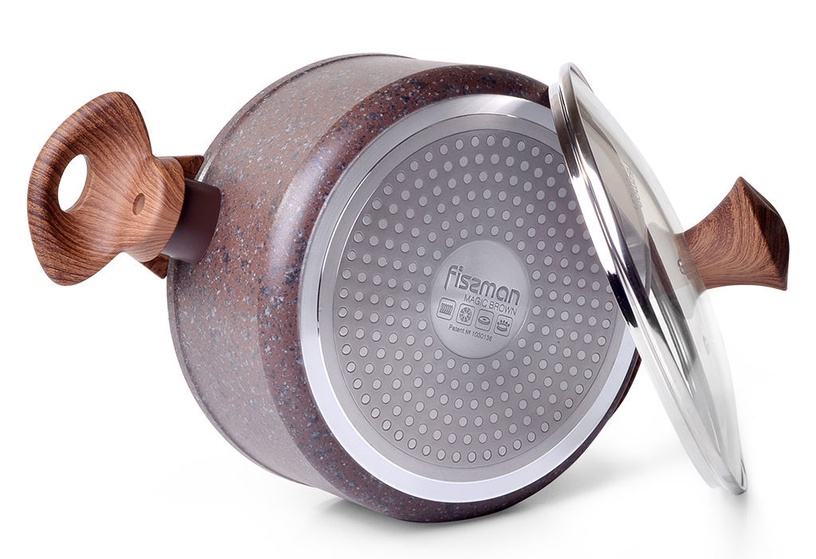 Fissman Magic Brown Casserole With Glass Lid D20cm 2.7l Brown