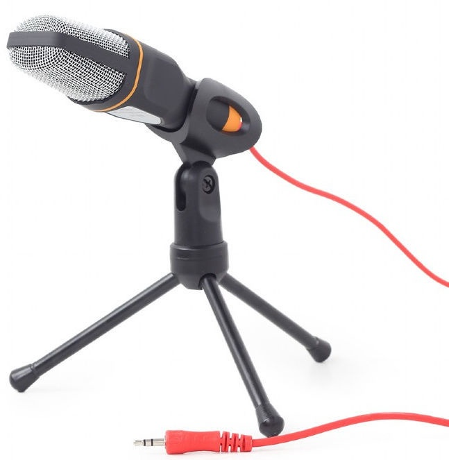 Gembird Desktop Microphone w/Tripod Black