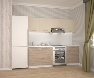 Кухонный гарнитур Halmar Katia Oak/White/Sand, 2.2 м