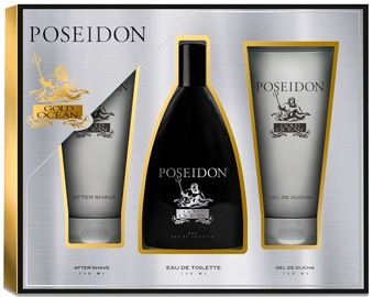Komplekt meestele Instituto Español Poseidon Gold Ocean 150 ml EDT + 150 ml After Shave + 150 ml Shower Gel