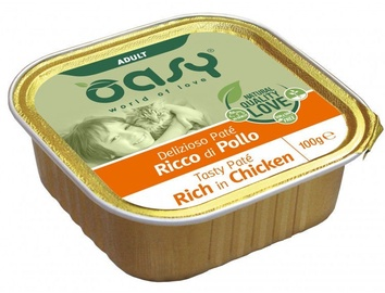 Oasy Tasty Pate Rich In Chicken Adult Cat Wet Food 100g