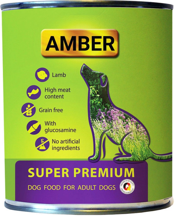 Amber Super Premium Dog Food With Lamb & Glucosamine 800g