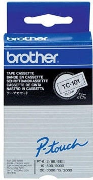 Brother TC-101 Black On Clear Tape 12mm