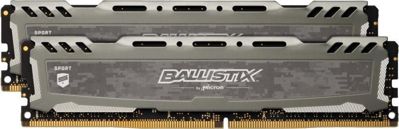 Crucial Ballistix Sport LT Gray 16GB 3000MHz CL15 DDR4 KIT OF 2 BLS2K8G4D30AESBK