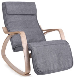 Songmics Rocking Chair With Footrest Grey