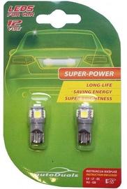 AutoDuals 5SMD-LED T10 Light Bulb White 2pcs