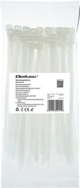Qoltec Zippers Nylon UV 7.2x200mm 50pcs. White