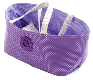 SmallStuff Doll Basket With Pillow And Duvet Purple