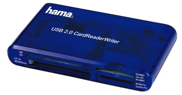 Hama USB 2.0 Multi Card Reader Blue