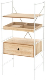 Riiul Verners 4Living with Drawer 455x900x330 White/Wood