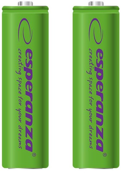 Esperanza Rechargaeble Batteries 2x AA 2000mAh Green