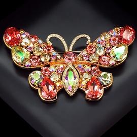Diamond Sky Brooch Fairy Moth With Swarovski Crystals