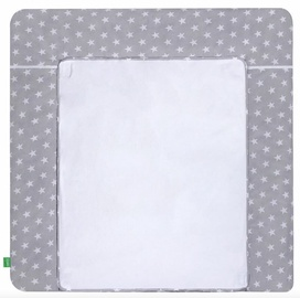 Lulando Changing Table Mat White Stars On Grey 75x85cm