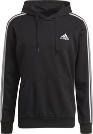 Adidas Essentials 3 Stripes Hoodie GK9062 Black XL