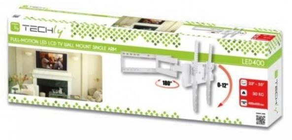 Techly Wall Mount For LCD/LED/PDP 23-55'' White